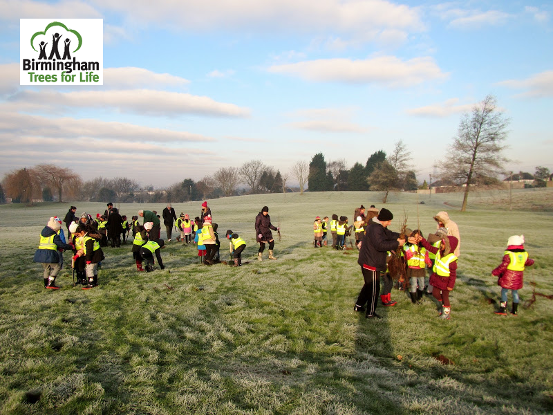 Bromford Recreation Ground on 20th January 2016, with a whole year group from Hodge Hill Primary School - 111 pupils!!